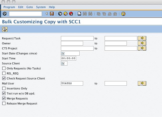 RSCC_SCC1_BATCH Selection Screen