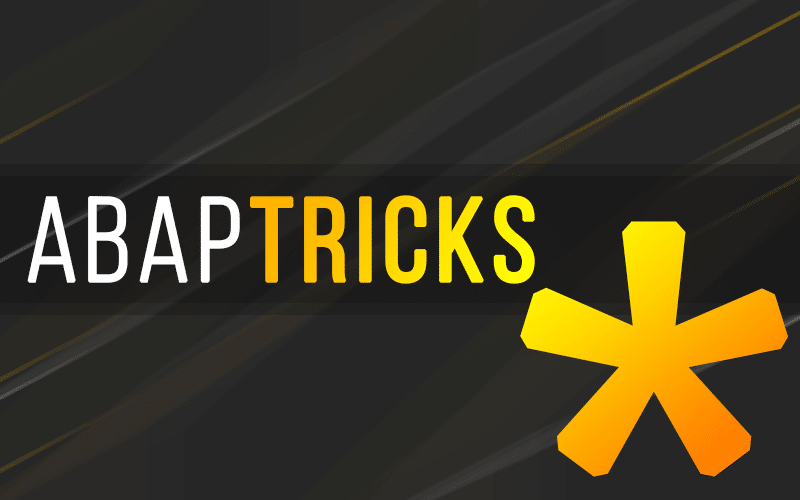 ABAP Tricks