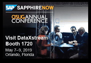 DataXstream at SAPPHIRENOW ASUG 2019