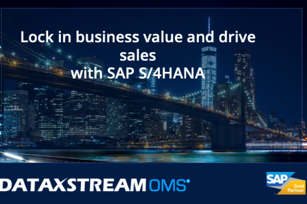 """image of NYC at night, title reads """"lock in business value and drive sales with SAP S/4HANA"""""""