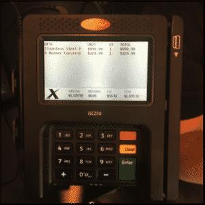 OMS+, POS, credit card device, app display, SAP, SAP Retail,